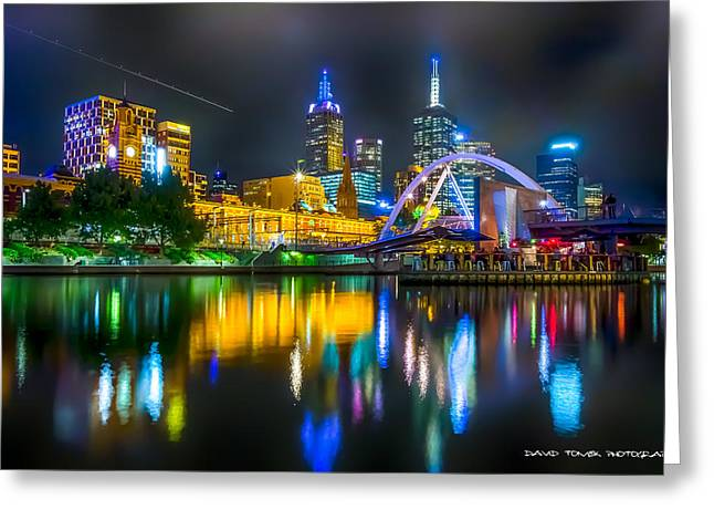 Exposure Greeting Cards - Reflections of Melbourne Greeting Card by David Tomek