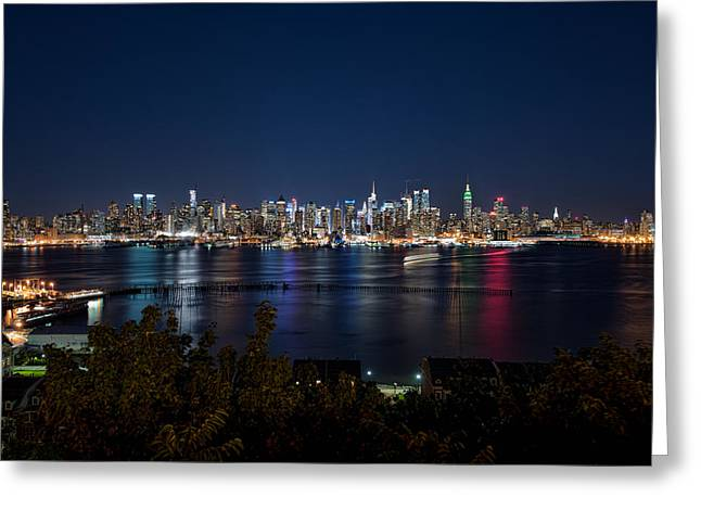 Mark Whitt Photography Greeting Cards - Reflections of Midtown Manhattan Greeting Card by Mark Whitt