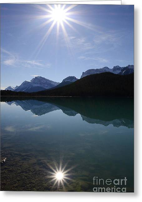 Reflections Of Nature Greeting Card by Bob Christopher