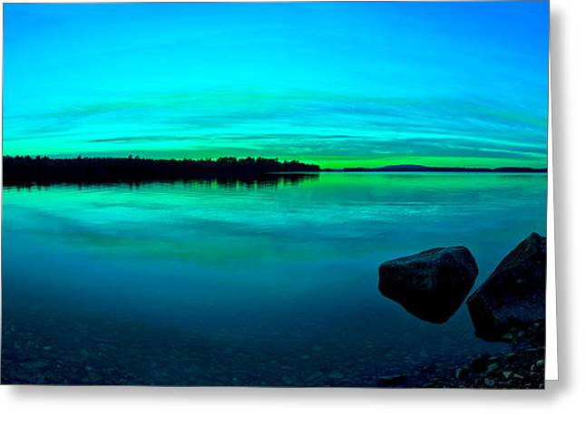 Modern Digital Art Digital Art Greeting Cards - Reflections of Serenity Panorama Greeting Card by Bill Caldwell -        ABeautifulSky Photography