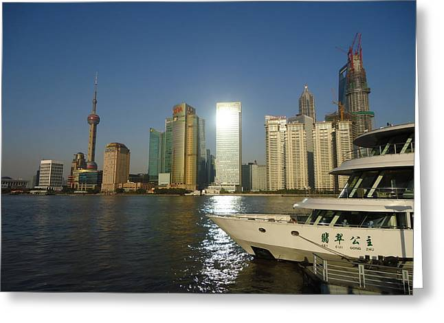 Shanghai China Greeting Cards - Reflections of Shanghai Greeting Card by Mountain Dreams