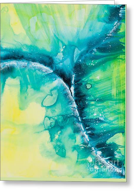 Planet Earth Paintings Greeting Cards - Reflections of the Universe No. 2026 Greeting Card by Ilisa  Millermoon