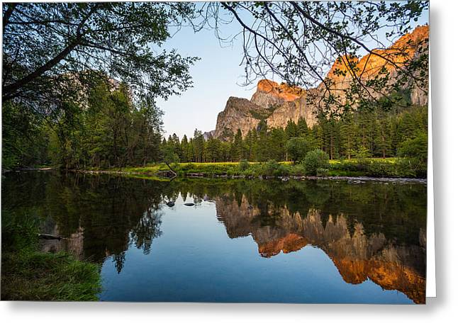 Cathedral Rock Greeting Cards - Reflections of Valley View Greeting Card by Mike Lee