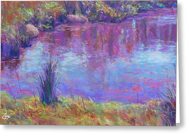 Reflections Pastels Greeting Cards - Reflections on a Pond Greeting Card by Michael Camp