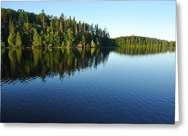 Boundary Waters Greeting Cards - Reflections on a Wilderness Lake Greeting Card by Mark Herreid