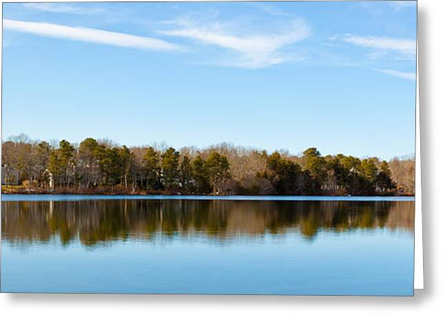 Reflection On Pond Greeting Cards - Reflections On Long Pond Greeting Card by Michelle Wiarda