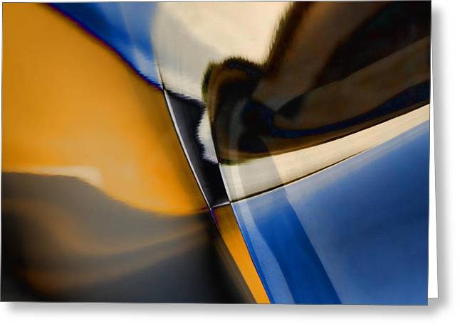 Modern Art Photographs Greeting Cards - Reflections on Porsche No. 1 Greeting Card by Carol Leigh