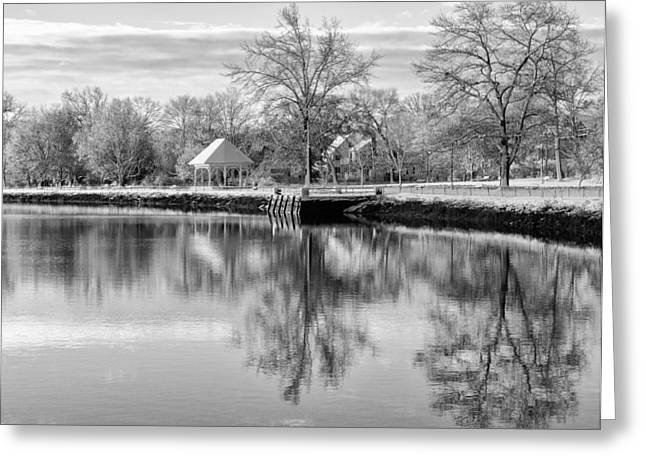 Exeter Hall Greeting Cards - Reflections on Thanksgiving Greeting Card by WALL Photography and Design