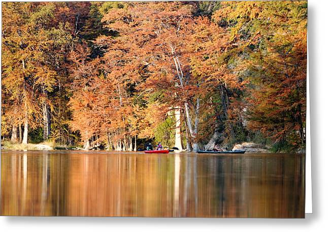 Utopia Greeting Cards - Reflections on The Frio River III Greeting Card by Silvio Ligutti
