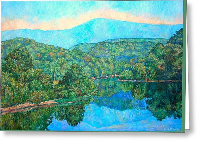 Reflections On The James River Greeting Card by Kendall Kessler