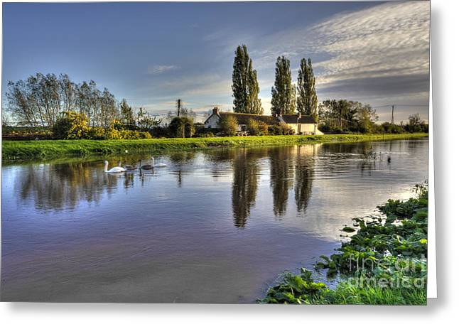 Drain Greeting Cards - Reflections on the Tone  Greeting Card by Rob Hawkins