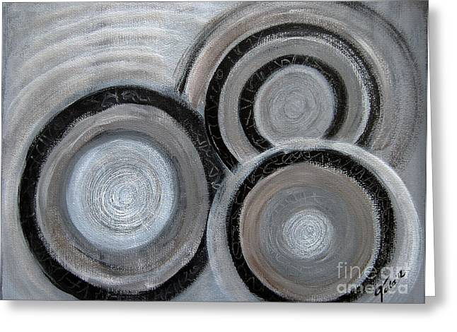 Tala-art Greeting Cards - Reflections on Time 4 Greeting Card by Eva-Maria Becker