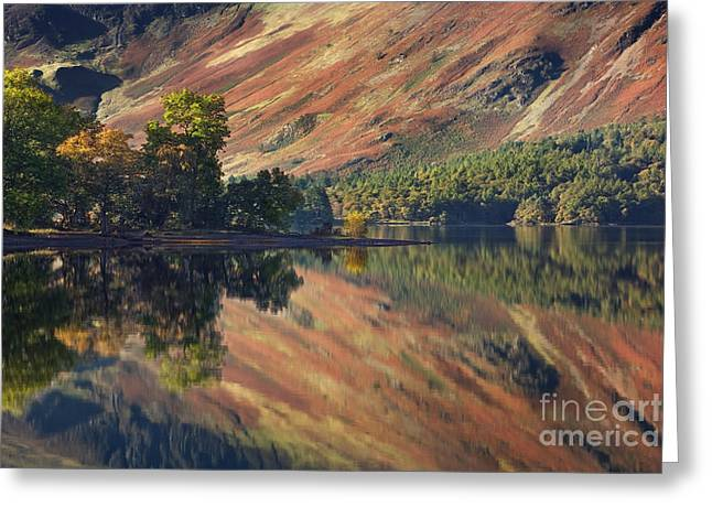 Cumbria Greeting Cards - Derwent Water Reflections Greeting Card by Rod McLean
