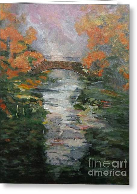 Brdige Greeting Cards - Reflections Under the Bridge Greeting Card by Patti Goltz