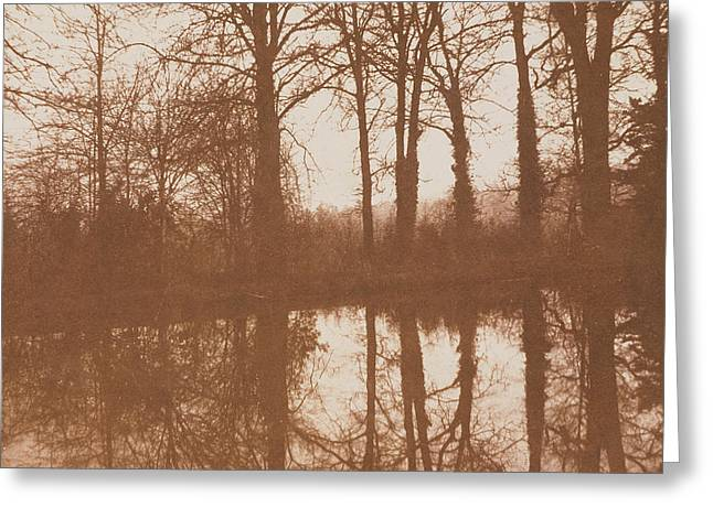Black And White Photos Greeting Cards - Reflections Greeting Card by William Henry Fox Talbot