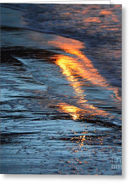 Sand Pattern Greeting Cards - Reflections xvi  Greeting Card by Paul Davenport