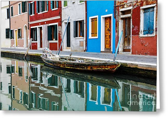 City Canal Greeting Cards - Reflections Greeting Card by Yuri Santin