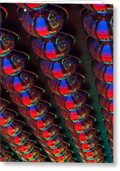 Flashy Greeting Cards - Reflective Globes Greeting Card by Art Block Collections