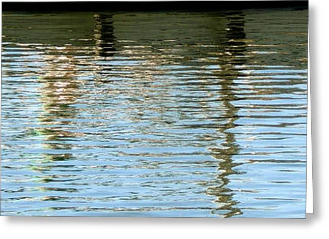 Docked Sailboat Greeting Cards - Reflective Greeting Card by Mark Moore