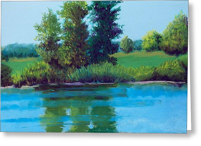 July Pastels Greeting Cards - Reflective Moment Greeting Card by Rosemarie Caffarelli