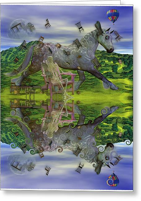 Reflective Oz Greeting Card by Betsy Knapp