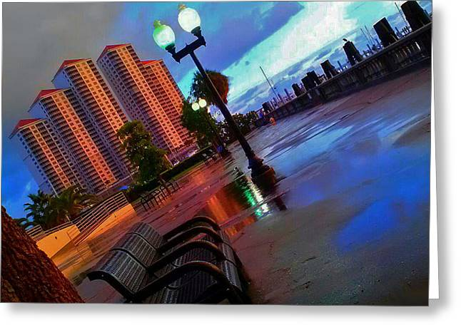 Reflections In River Greeting Cards - Reflective Perspective Greeting Card by Tamara Gibbs