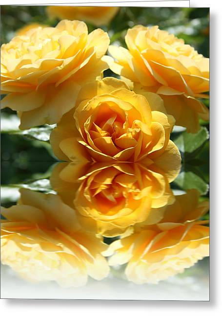 Stamen Digital Art Greeting Cards - Reflective Prettiness Greeting Card by Christiane Schulze Art And Photography