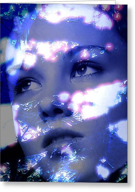 Absorb Digital Art Greeting Cards - Reflective Greeting Card by Richard Thomas