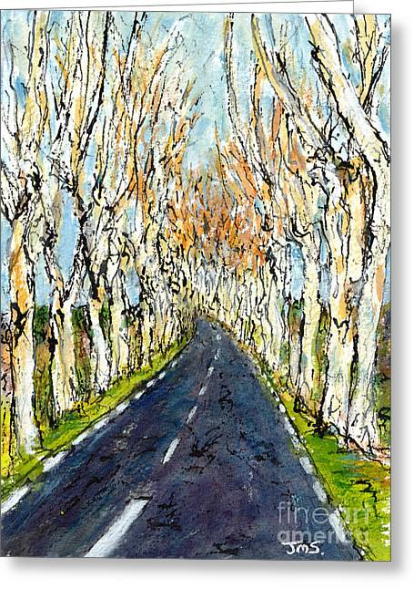 Languedoc Paintings Greeting Cards - Reflets de France Greeting Card by Jackie Sherwood