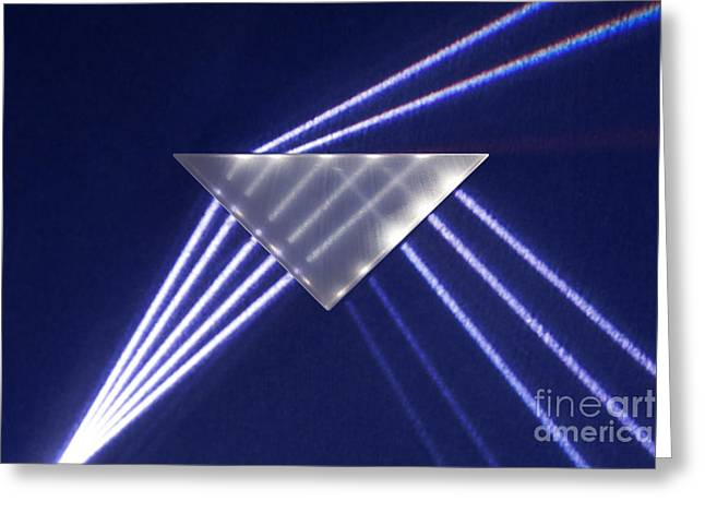 Geometric Effect Greeting Cards - Refraction And Internal Reflection Greeting Card by GIPhotoStock