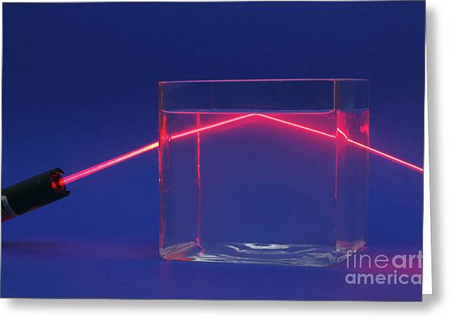 Geometric Effect Greeting Cards - Refraction And Total Internal Reflection Greeting Card by GIPhotoStock