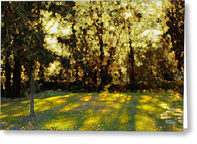 Dappled Light Greeting Cards - Refrectory Greeting Card by Terence Morrissey