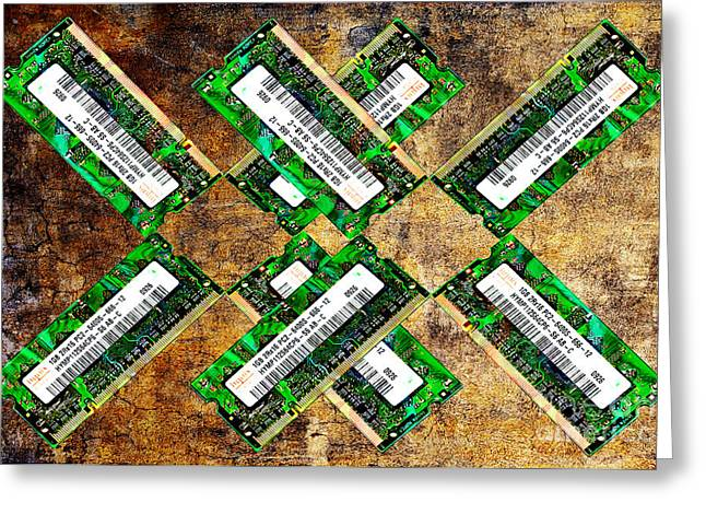 Refresh My Memory - Computer Memory Cards - Electronics - Abstract Greeting Card by Andee Design