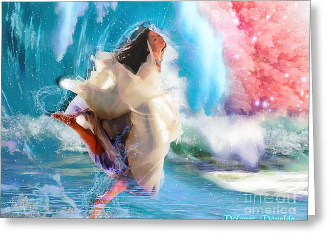 Baptize Greeting Cards - Refreshed Greeting Card by Dolores Develde