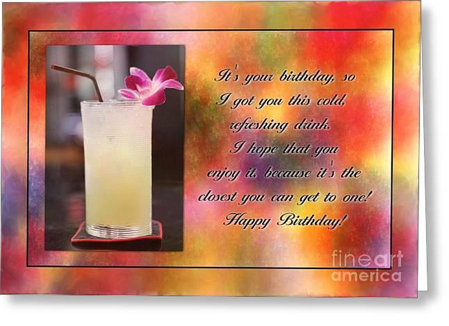 Underage Greeting Cards - Refreshing Underage Birthday Greeting Card by JH Designs
