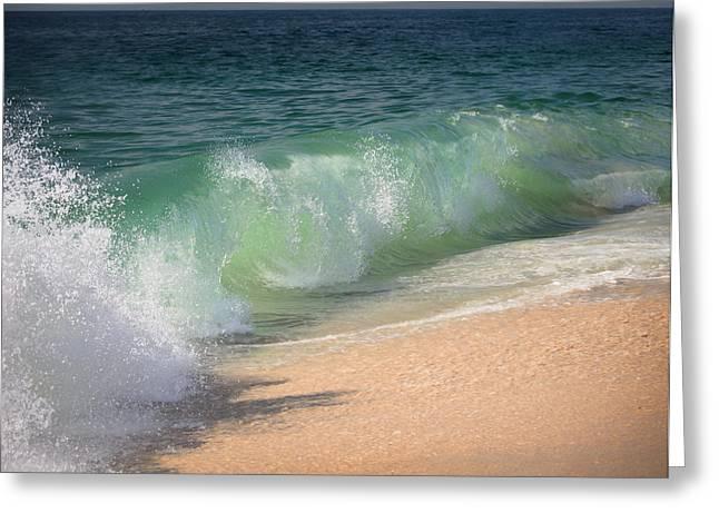 Babylon Greeting Cards - Refreshing Waves Greeting Card by Vicki Jauron