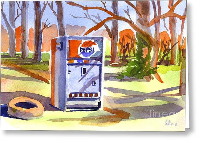 Promotional Greeting Cards - Refreshment Along Lifes Way Greeting Card by Kip DeVore