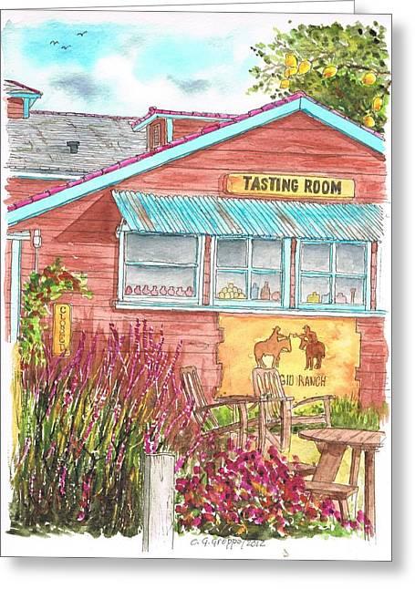 Tasting Rooms California Greeting Cards - Refugio Ranch Tasting Room in Los Olivos - California Greeting Card by Carlos G Groppa