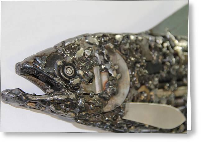 Welding Sculptures Greeting Cards - Regal Greeting Card by Jacob Diehl