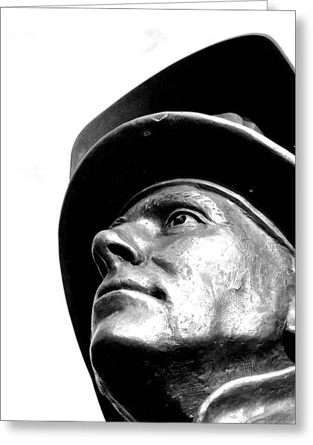 Reverence Greeting Cards - Regard for the Firemen Greeting Card by Brian Sereda