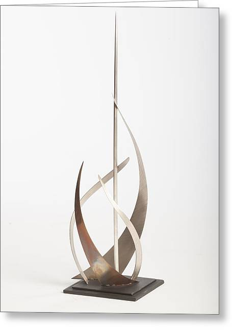 Silver Sculptures Greeting Cards - Regatta  Greeting Card by Jon Koehler