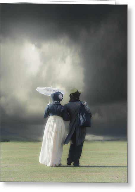 Frock Greeting Cards - Regency couple Greeting Card by Joana Kruse