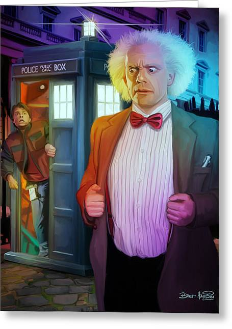 Back To The Future Greeting Cards - Regeneration Greeting Card by Brett Hardin