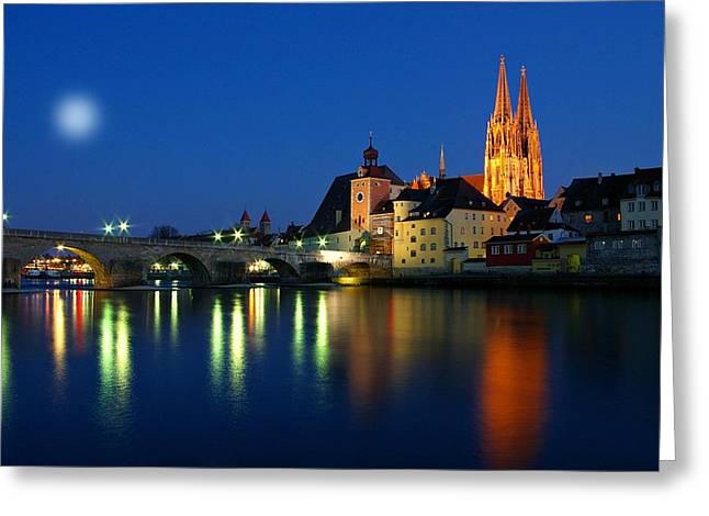 Regensburg Germany Greeting Card by Movie Poster Prints