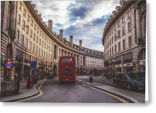 Underground Tour Greeting Cards - Regent Street in London Greeting Card by Mountain Dreams