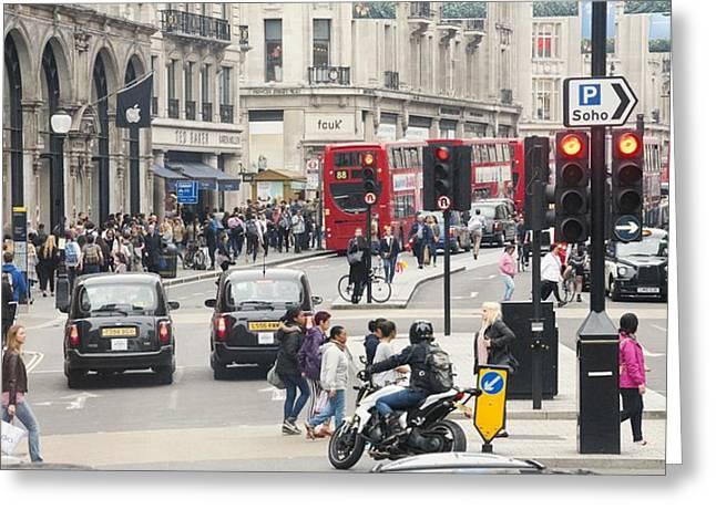 Regent Street London Greeting Card by Chevy Fleet