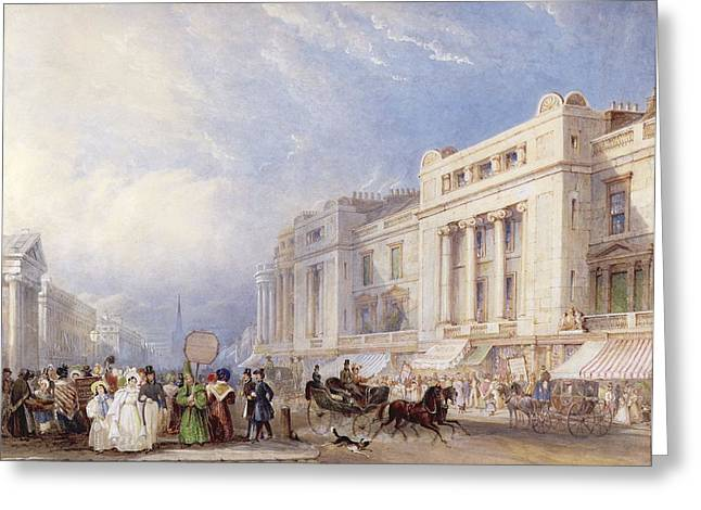 Department Stores Greeting Cards - Regent Street, London, Looking North Greeting Card by George Sidney Shepherd