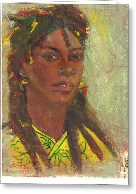 Dread Locks Greeting Cards - Reggae On Reggae Woman 11 Greeting Card by Kippax Williams