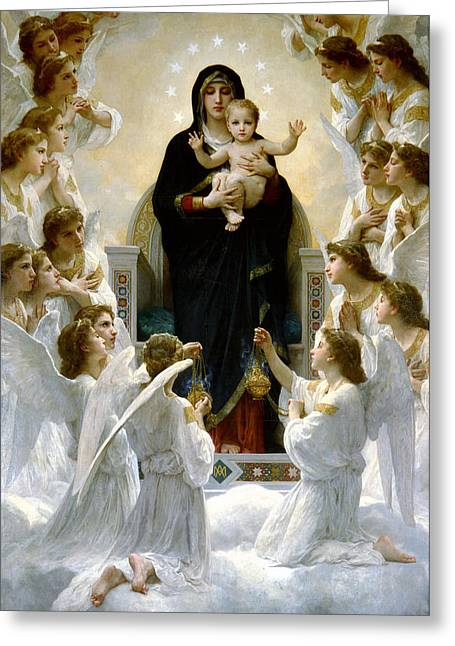 Child Jesus Greeting Cards - Regina Angelorum Greeting Card by William Bouguereau