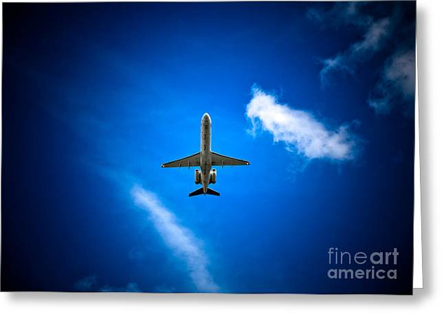 Turbojet Greeting Cards - Regional Jet Greeting Card by Rastislav Margus